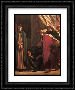 Dante in Exile [detail: right] 20x24 Black or Gold Ornate Framed and Double Matted Art Print by Frederic Leighton