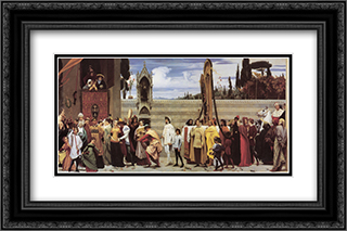 Cimabue's Celebrated Madonna 24x16 Black or Gold Ornate Framed and Double Matted Art Print by Frederic Leighton
