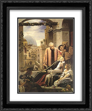 The Death of Brunelleschi 20x24 Black or Gold Ornate Framed and Double Matted Art Print by Frederic Leighton