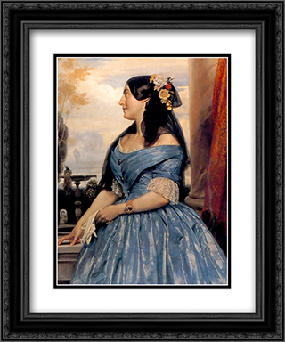 Portrait of a Lady 20x24 Black or Gold Ornate Framed and Double Matted Art Print by Frederic Leighton