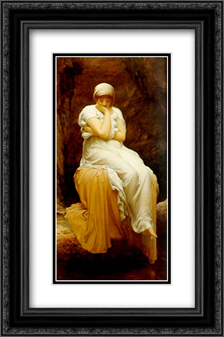 Solitude 16x24 Black or Gold Ornate Framed and Double Matted Art Print by Frederic Leighton