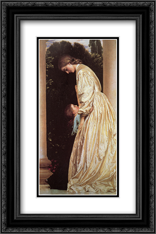 Sisters 16x24 Black or Gold Ornate Framed and Double Matted Art Print by Frederic Leighton