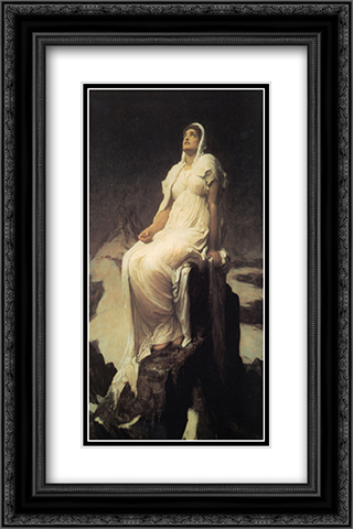 The Spirit of the Summit 16x24 Black or Gold Ornate Framed and Double Matted Art Print by Frederic Leighton