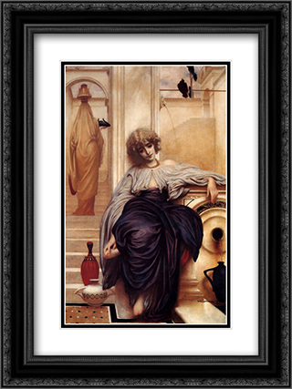 Lieder Ohne Worte 18x24 Black or Gold Ornate Framed and Double Matted Art Print by Frederic Leighton