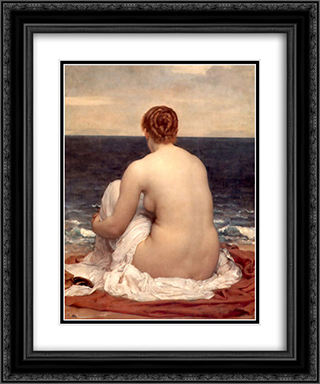 Psamathe 20x24 Black or Gold Ornate Framed and Double Matted Art Print by Frederic Leighton