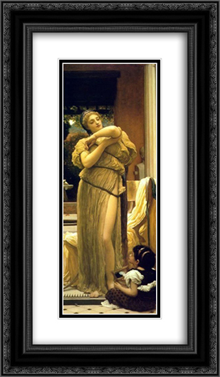 Venus Disrobing 14x24 Black or Gold Ornate Framed and Double Matted Art Print by Frederic Leighton