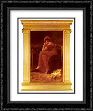 Sibyl 20x24 Black or Gold Ornate Framed and Double Matted Art Print by Frederic Leighton