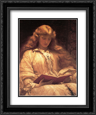 The Maid with the Yellow Hair 20x24 Black or Gold Ornate Framed and Double Matted Art Print by Frederic Leighton
