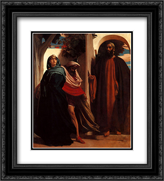 Unknown 20x22 Black or Gold Ornate Framed and Double Matted Art Print by Frederic Leighton