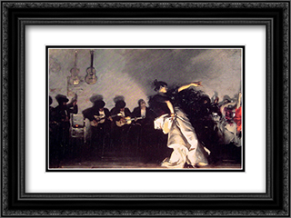 El Jaleo 24x18 Black or Gold Ornate Framed and Double Matted Art Print by John Singer Sargent