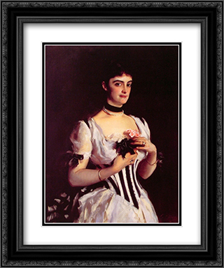Mrs Wilton Phips 20x24 Black or Gold Ornate Framed and Double Matted Art Print by John Singer Sargent