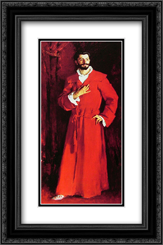 Dr Pozzi at Home 16x24 Black or Gold Ornate Framed and Double Matted Art Print by John Singer Sargent