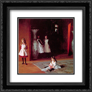 The Daughters of Edward Darley Boit 20x20 Black or Gold Ornate Framed and Double Matted Art Print by John Singer Sargent