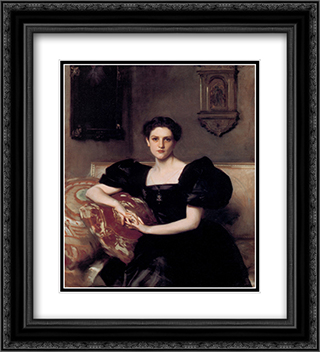 Elizabeth Winthrop Chanler 20x22 Black or Gold Ornate Framed and Double Matted Art Print by John Singer Sargent
