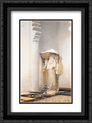 Fumee d'Ambris Gris 18x24 Black or Gold Ornate Framed and Double Matted Art Print by John Singer Sargent