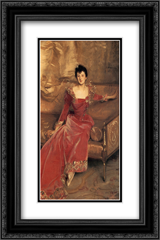 Mrs. Hugh Hammersley 16x24 Black or Gold Ornate Framed and Double Matted Art Print by John Singer Sargent
