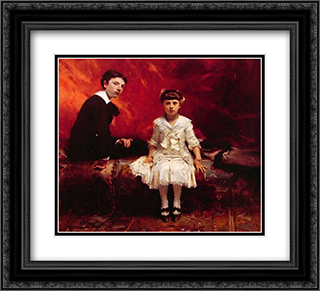 Portrait of Edouard and Marie-Loise Pailleron 22x20 Black or Gold Ornate Framed and Double Matted Art Print by John Singer Sargent