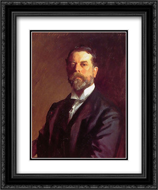 Self Portrait 20x24 Black or Gold Ornate Framed and Double Matted Art Print by John Singer Sargent