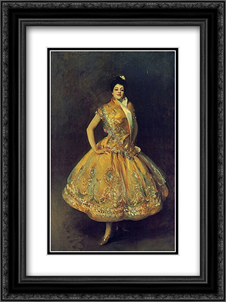 La Carmencita 18x24 Black or Gold Ornate Framed and Double Matted Art Print by John Singer Sargent