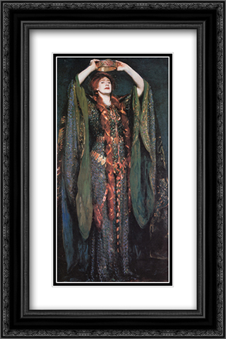 Miss Ellen Terry as Lady Macbeth 16x24 Black or Gold Ornate Framed and Double Matted Art Print by John Singer Sargent