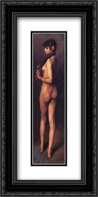 Nude Egyptian Girl 12x24 Black or Gold Ornate Framed and Double Matted Art Print by John Singer Sargent
