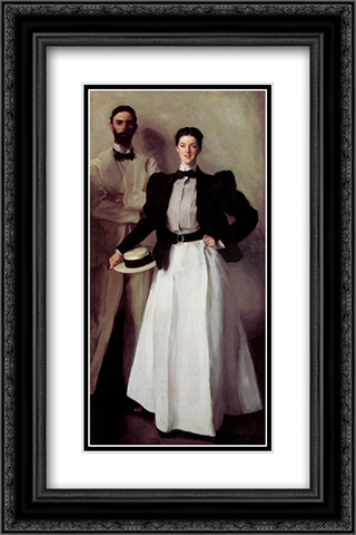 Mr. and Mrs. Isaac Newton Phelps Stokes 16x24 Black or Gold Ornate Framed and Double Matted Art Print by John Singer Sargent