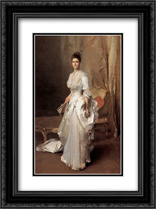 Mrs. Henry White 18x24 Black or Gold Ornate Framed and Double Matted Art Print by John Singer Sargent