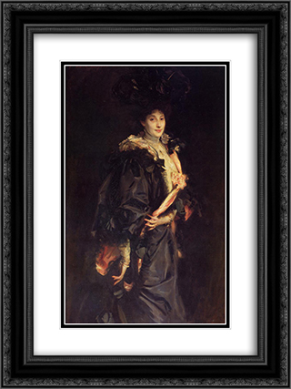 Lady Sassoon 18x24 Black or Gold Ornate Framed and Double Matted Art Print by John Singer Sargent