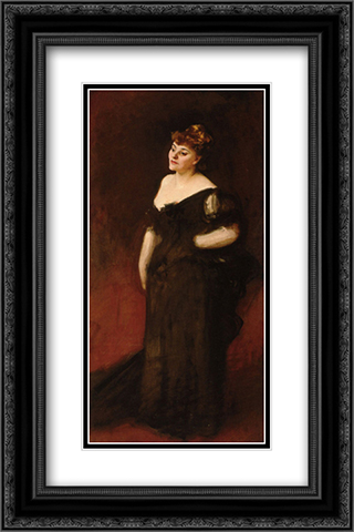 Portrait of Mrs Harry Vane Milbank 16x24 Black or Gold Ornate Framed and Double Matted Art Print by John Singer Sargent