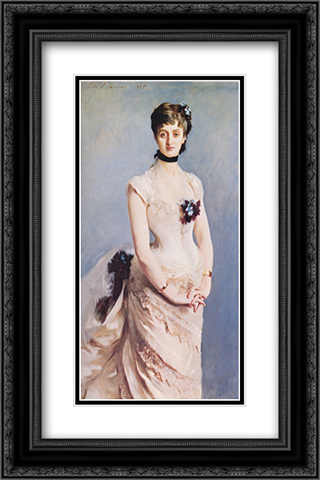 Madame Paul Poirson 16x24 Black or Gold Ornate Framed and Double Matted Art Print by John Singer Sargent