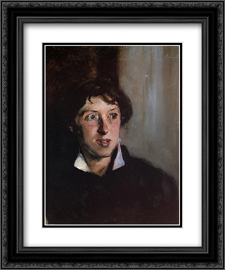 Vernon Lee 20x24 Black or Gold Ornate Framed and Double Matted Art Print by John Singer Sargent