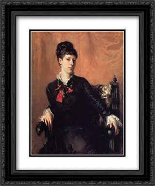 Miss Frances Sherborne Ridley Watts 20x24 Black or Gold Ornate Framed and Double Matted Art Print by John Singer Sargent