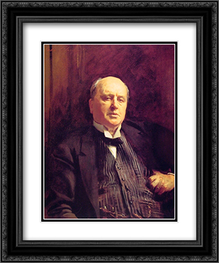 Henry James 20x24 Black or Gold Ornate Framed and Double Matted Art Print by John Singer Sargent