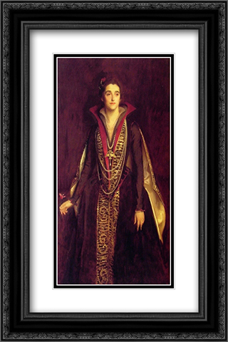 The Countess of Rocksavage, later Marchioness of Cholmondeley 16x24 Black or Gold Ornate Framed and Double Matted Art Print by John Singer Sargent
