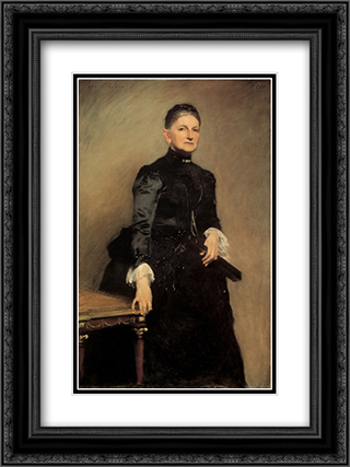 Mrs Adrian Iselin 18x24 Black or Gold Ornate Framed and Double Matted Art Print by John Singer Sargent