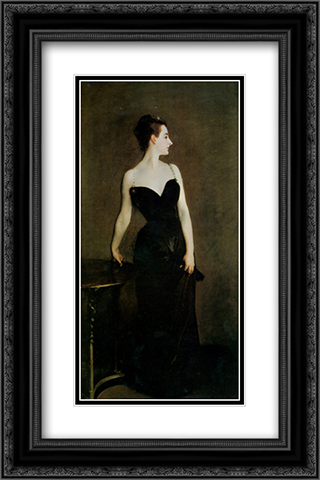 Madame X 16x24 Black or Gold Ornate Framed and Double Matted Art Print by John Singer Sargent