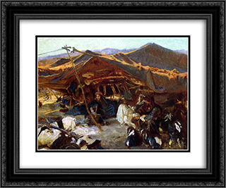 Bedouin Encampment 24x20 Black or Gold Ornate Framed and Double Matted Art Print by John Singer Sargent