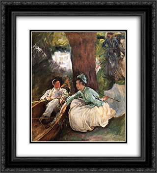 By the River 20x22 Black or Gold Ornate Framed and Double Matted Art Print by John Singer Sargent