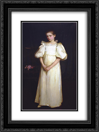 Portrait of Phyllis Waterlo 18x24 Black or Gold Ornate Framed and Double Matted Art Print by John William Waterhouse