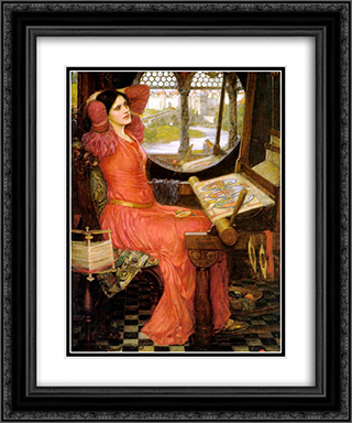 """I am Half-sick of Shadows,"" said the Lady of Shalott 20x24 Black or Gold Ornate Framed and Double Matted Art Print by John William Waterhouse"