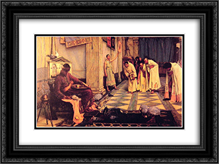 The Favourites of the Emperor Honorious 24x18 Black or Gold Ornate Framed and Double Matted Art Print by John William Waterhouse