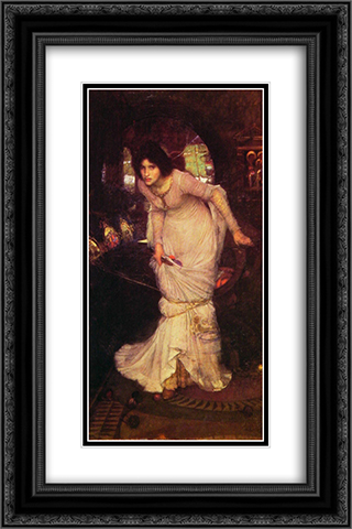 The Lady of Shalott 16x24 Black or Gold Ornate Framed and Double Matted Art Print by John William Waterhouse