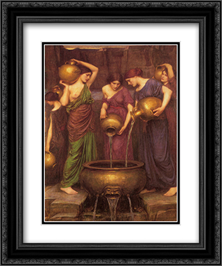 The Danaides 20x24 Black or Gold Ornate Framed and Double Matted Art Print by John William Waterhouse