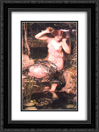 Lamia 18x24 Black or Gold Ornate Framed and Double Matted Art Print by John William Waterhouse