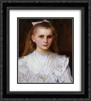 Portrait of a Girl 20x22 Black or Gold Ornate Framed and Double Matted Art Print by John William Waterhouse