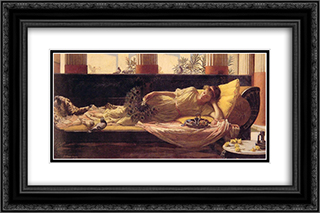 Sweet Nothings 24x16 Black or Gold Ornate Framed and Double Matted Art Print by John William Waterhouse