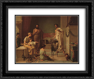 A Sick Child Brought into the Temple of Aesculapius 24x20 Black or Gold Ornate Framed and Double Matted Art Print by John William Waterhouse