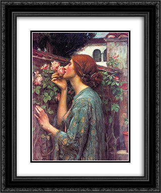 My Sweet Rose 20x24 Black or Gold Ornate Framed and Double Matted Art Print by John William Waterhouse