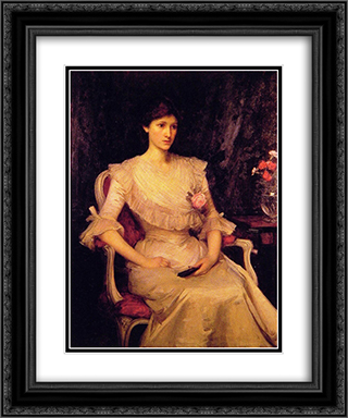 Miss Margaret Henderson 20x24 Black or Gold Ornate Framed and Double Matted Art Print by John William Waterhouse