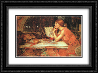 The Sorceress 24x18 Black or Gold Ornate Framed and Double Matted Art Print by John William Waterhouse